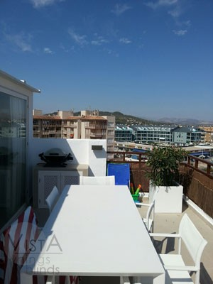 Javea Terrace prior to awning fitting