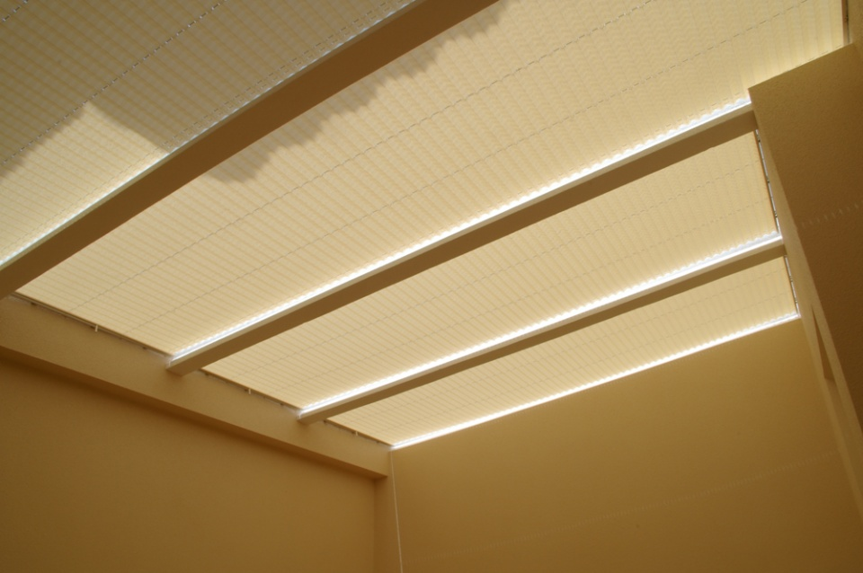 Skylight Blinds: fully closed