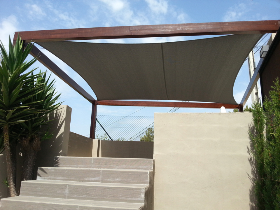 Custom Concertina Awning - irregular shape
