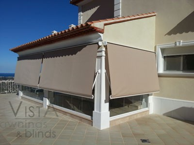 Boxed Drop Arms Awning: closed _ Moraira