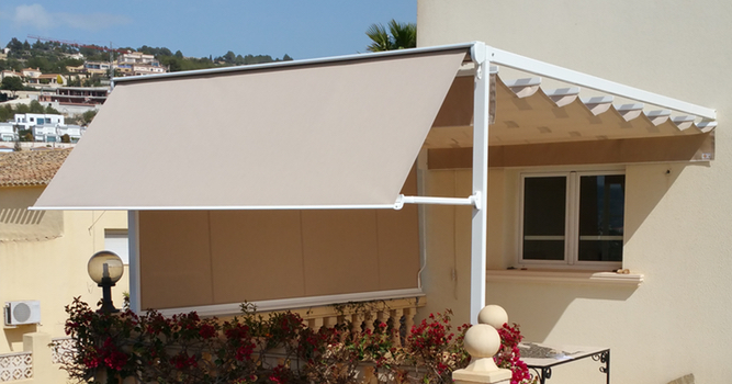 Aluminium Frame Awnings in Calpe
